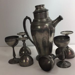 Other - Pewter 1930s cocktail set